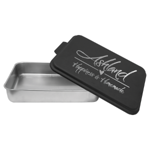 Aluminum Cake Pan with Black Powder Coated Lid