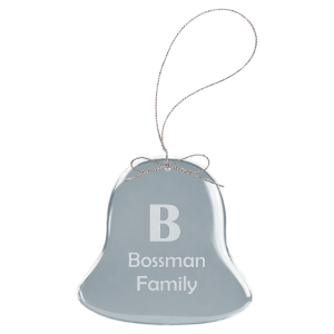 Bell Clear Glass Ornament with Silver String
