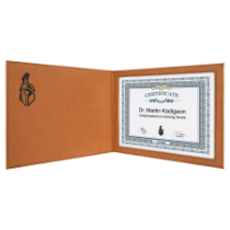 Rawhide Leatherette Certificate Holder for 8 1/2 x 11 Certificate
