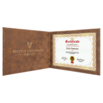 Rustic & Gold Certificate Holder for 8 1/2 x 11 Certificate