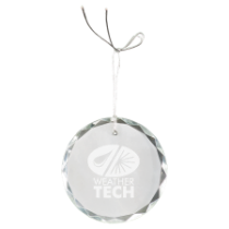 Round Facet Crystal Ornament