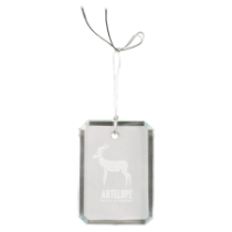 Rectangle Clipped Corners Crystal Ornament