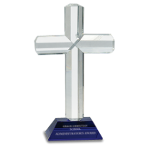 Crystal Cross with Blue Base