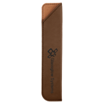 Dark Brown Leatherette Pen Sleeve