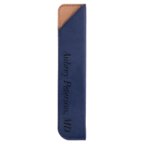 Blue Leatherette Pen Sleeve