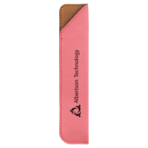Pink Leatherette Pen Sleeve