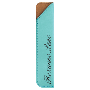 Teal Leatherette Pen Sleeve
