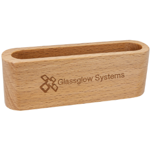 Beech Wood Business Card Holder