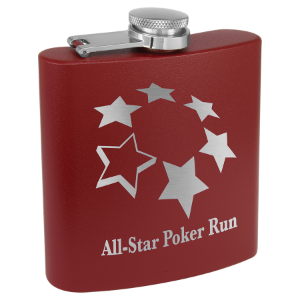 6 oz. Powder Coated Flask Maroon