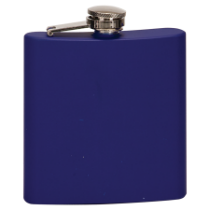 6 oz. Matte Blue Stainless Steel Flask