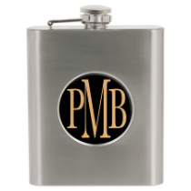 6 oz. Stainless Steel Flask with 2 Insert Area