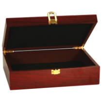 Large Rosewood Finish Gift Box