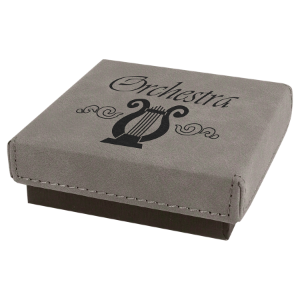 Gray Leatherette Gift Box