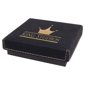 Black/Gold Leatherette Gift Box