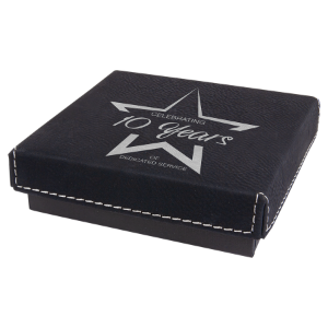 Black/Silver Leatherette Gift Box
