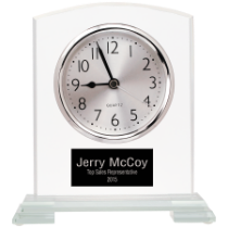 Square Arch Glass Clock