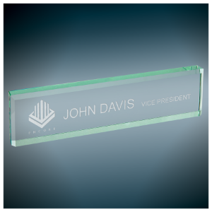 Jade Glass Desk Wedge