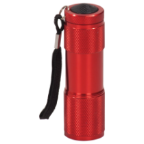 Red 9-LED Flashlight Requires 3 AAA Batteries