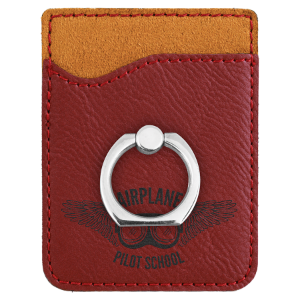 Rose' Leatherette Cell Phone Wallet with Silver Ring