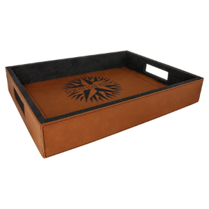 Rawhide Laserable Leatherette Serving Tray