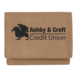 Light Brown Leatherette Trifold Wallet