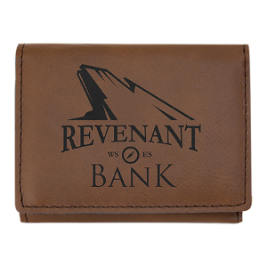 Dark Brown Leatherette Trifold Wallet