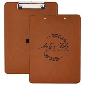 Rawhide Laserable Leatherette Clip Boards
