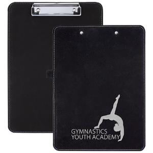 Black/Silver Lserable Leatherette Clip Boards