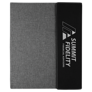 Black with Gray Leatherette Canvas Portfolio
