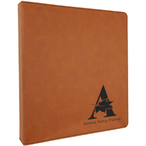 Rawhide Lasered Leatherette 3-Ring Binder