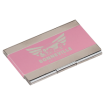 Pink Metal Business Card Holder