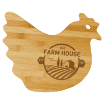Bamboo Hen Shaped Cutting Board
