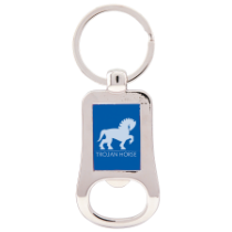 Blue Bottle Opener Keychain