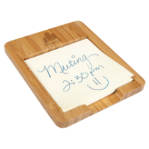 Bamboo Sticky Note Holder with Sticky Note Pad