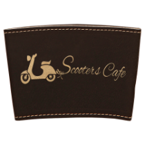 Black & Gold Leatherette Mug Sleeve