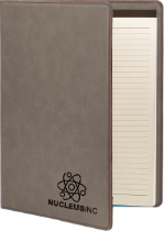 Gray Leatherette Portfolio with Notepad