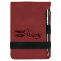 Rose Leatherette Mini Pad with Pen