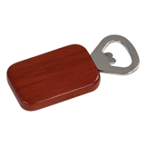 Rosewood Finish Rectangle Magnetic Bottle Opener