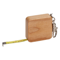 Maple Square 3' Tape Measure with Keychain