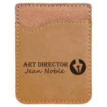 Light Brown Leatherette Cell Phone Wallet