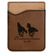 Dark Brown Leatherette Cell Phone Wallet