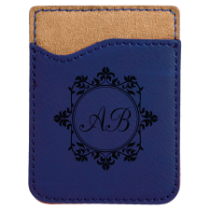 Blue Leatherette Cell Phone Wallet