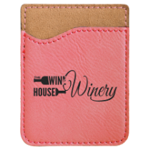 Pink Leatherette Cell Phone Wallet
