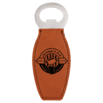 Rawhide Leatherette Magnetic Bottle Opener