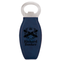 Blue Leatherette Magnetic Bottle Opener