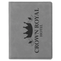 Gray Leatherette Passport Holder
