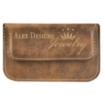 Rustic & Gold Leatherette Flexible Card Case