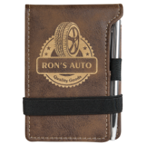 Rustic & Gold Leatherette Mini Pad with Pen