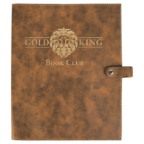 Rustic & Gold Leatherette Book/Bible Cover with Snap Closure