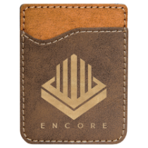 Rustic & Gold Leatherette Cell Phone Wallet